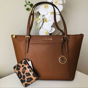 Michael kors Ciara Large Tote & leopard coin purse